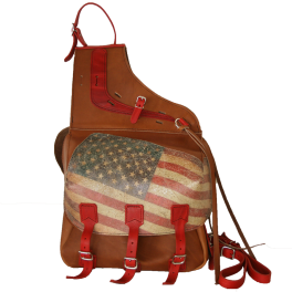 Sacoches-cubi cuir US FLAG