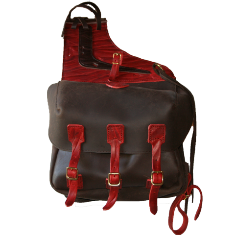 Sacoches cuir EXTREM CUSTOM red