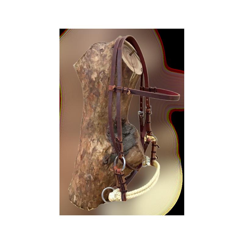 Side-pull cuir et rawhide