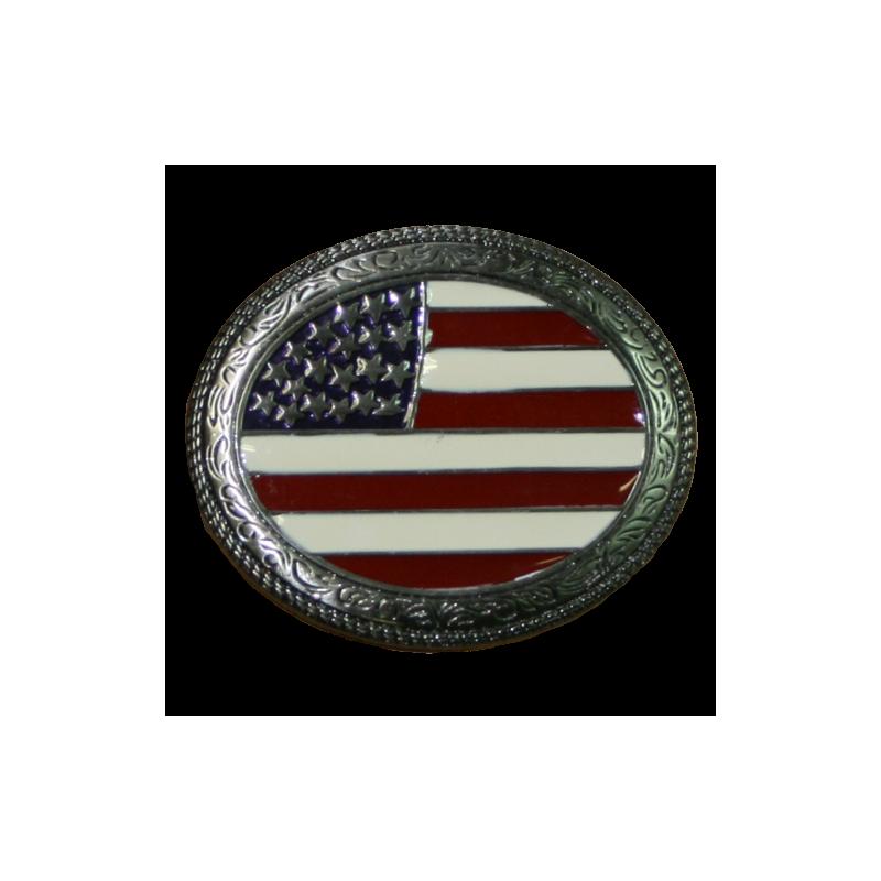 Boucle de ceinture drapeau US AB00272-13