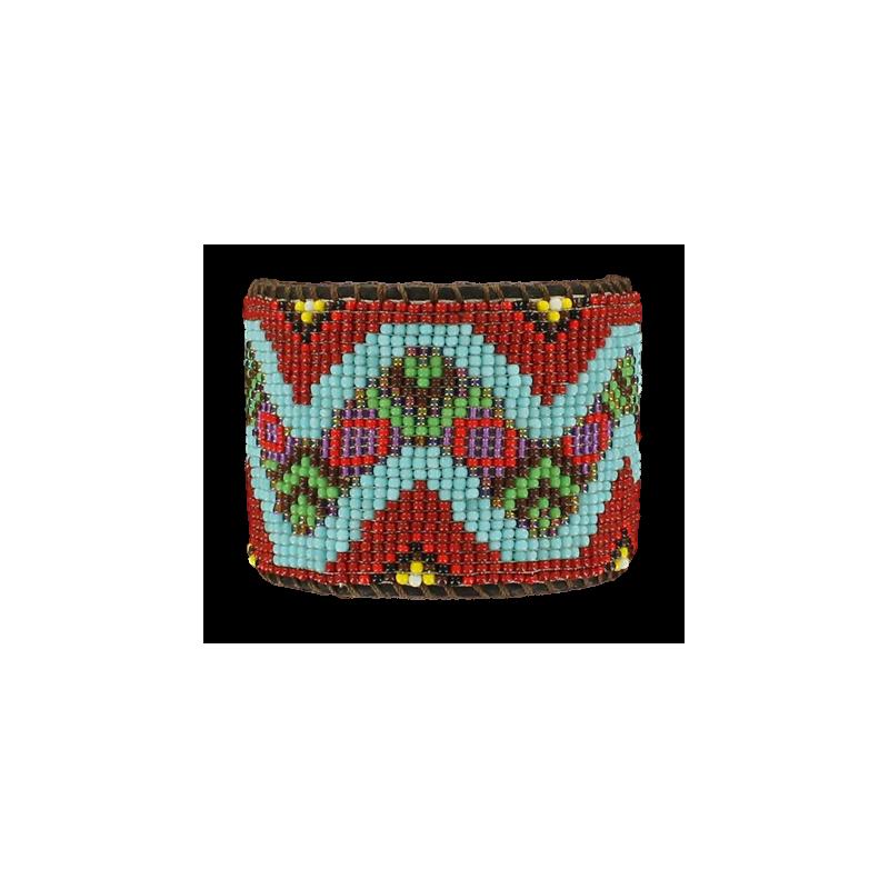 Bracelet cuir perle MF20582