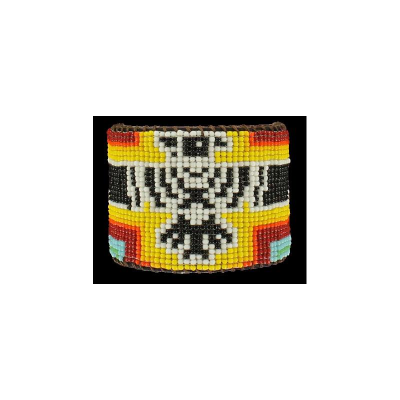 Bracelet cuir perle MF20584