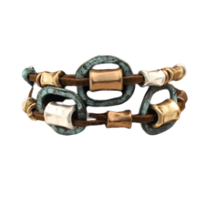 Bracelet cuivre et patine MF30936