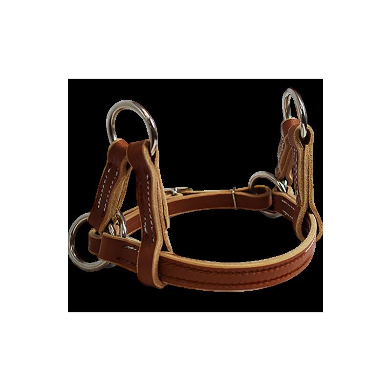 Nose band en cuir de side pull