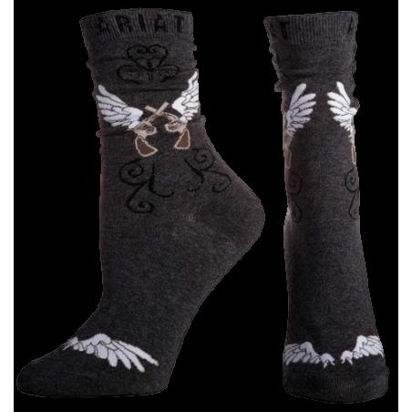Chaussettes mi-hautes Ariat gris