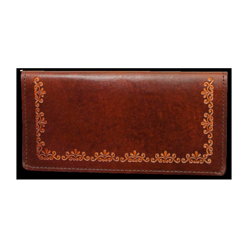 Porte-chequier cuir Floral WX-LW701