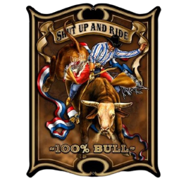 Enseigne western metal bull rodeo HD 59D113