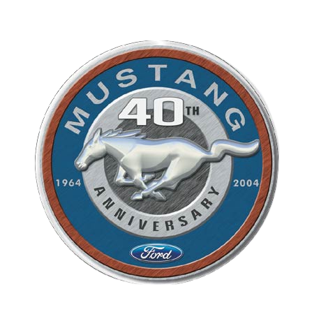 Plaque metal Mustang logo