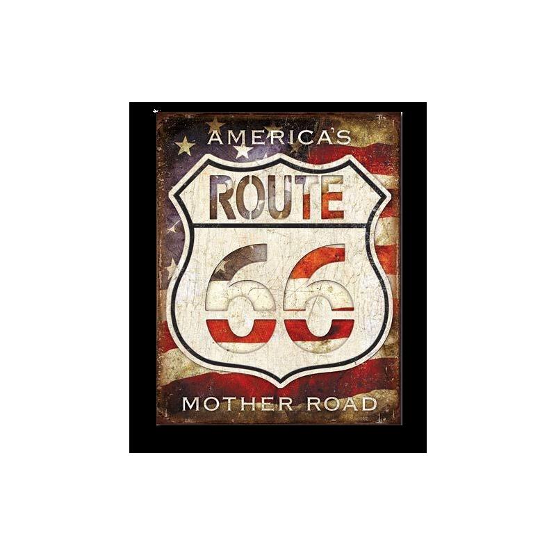 Enseigne western metal Road 66 HD 2104