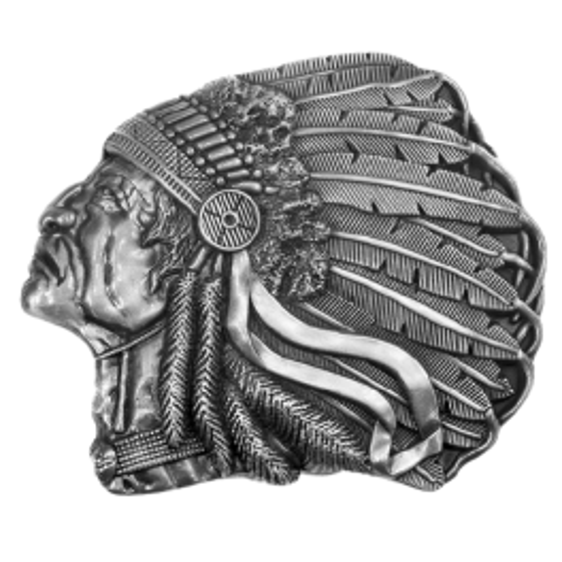 Boucle de ceinture Tete d'Indien SS GS506