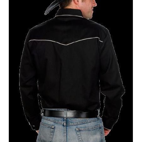 Chemise de show retro black WX 890