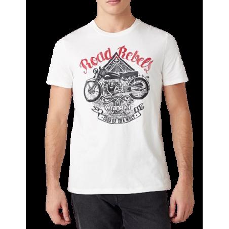 T-shirt Wrangler Biker Off white