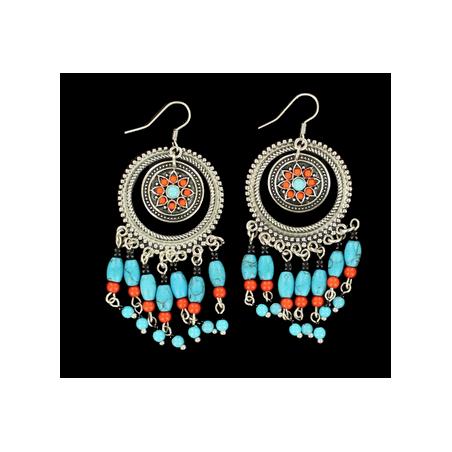 Boucles d'oreilles Aztec rondes MF30338
