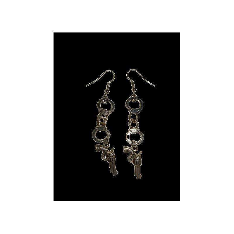 Boucles d'oreilles Menottes AEC LIZ04