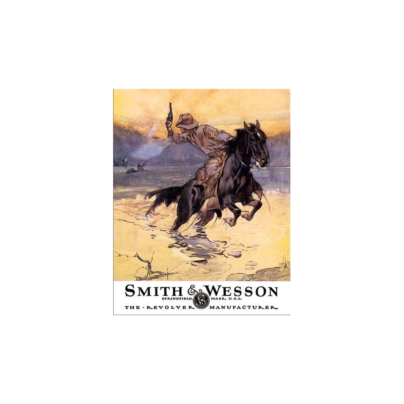 Enseigne western metal Smith et Wesson HD 1876
