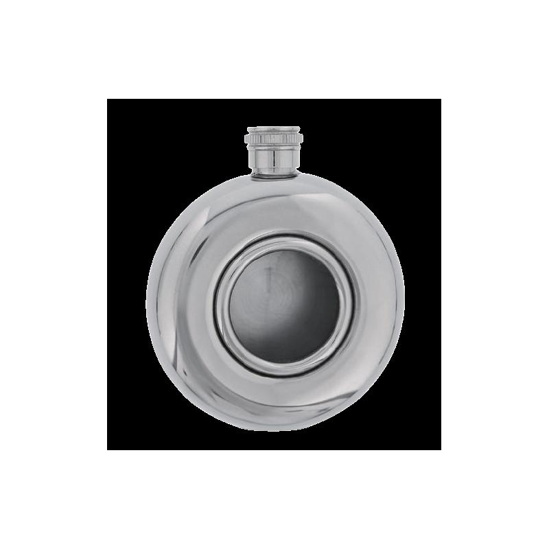 Flasque Ronde inox-verre BEL 11595